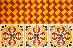 Moroccan vintage tile background. Moroccan tile background traditional azulejos style Stock Photo