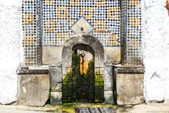 Moroccan wall fountain royalty free stock photos