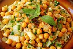 Moroccan warm chickpeas salad Stock Photography