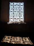 Moroccan Window From Inside - Backlight Royalty Free Stock Photos