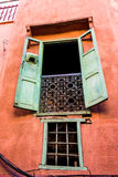 Moroccan window. A typical moroccan window in Marrakech royalty free stock images