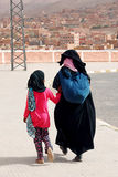Moroccan woman with her daughter in Morocco Royalty Free Stock Images