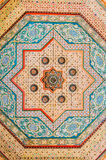 Moroccan wood ceiling painting Stock Images