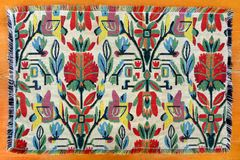 Moroccan woven handicraft rug Royalty Free Stock Images