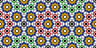Moroccan zellige seamless Royalty Free Stock Photography