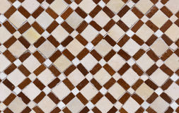 Moroccan Zellige Tile Pattern And Carved Plaster Arabesque Arch In