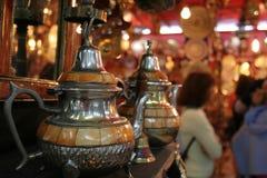 moroccanen shoppar souvenir Arkivbilder