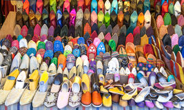 Moroccans slippers stock image