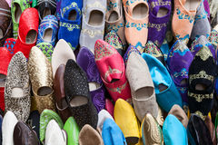 Moroccans slippers Stock Photos
