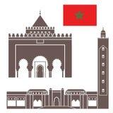 morocco vektor illustrationer