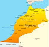 Morocco. Abstract vector color map of Morocco country