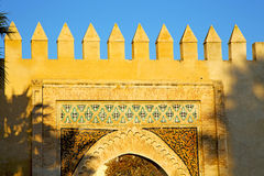 Morocco   in africa old the blue sky. Morocco arch in africa old construction     the blue sky Royalty Free Stock Images