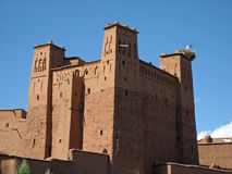 Morocco Ait Ben Haddou. Morocco's Ait Ben Haddou mud and straw building royalty free stock photo