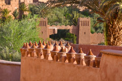 Morocco, Ait Ben Haddou gates Stock Photography