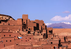 Morocco, Ait Ben Haddou, High Atlas. Morocco Ouarzazate Ait Ben Haddou Medieval Kasbah built in adobe - UNESCO World Heritage Site royalty free stock image
