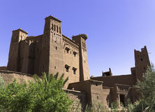 Morocco Ait Benhaddou. Morocco: Fortified city or Ksar of Ait Benhaddou. It is a fortified city along the former caravan route between the Sahara and Marrakech Royalty Free Stock Image