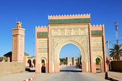 Morocco arch in africa    the blue sky. Morocco arch in africa old construction     the blue sky Stock Image