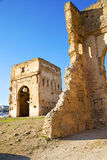 Morocco arch in africa old construction   blue. Morocco arch in africa old construction     the blue sky Stock Photography