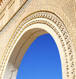 Morocco arch in africa old construction in the blue sky. Morocco arch in africa     old construction in the blue sky Stock Image