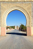 Morocco arch in africa old construction street. Morocco arch in africa old construction     the blue sky Royalty Free Stock Photography