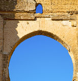 Morocco arch in africa     old construction street  the blue sky. Morocco arch in africa old construction     the blue sky Stock Photos