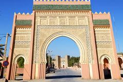 Morocco arch in africa old construction street  the blue sky. Morocco arch in africa old construction     the blue sky Stock Images