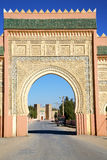 Morocco arch in  old construction. Morocco arch in africa old construction     the blue sky Stock Images