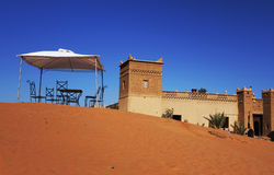 Morocco - Auberge in the Desert Royalty Free Stock Image