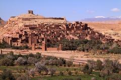 Morocco Ben Ait Haddou. Morocco Ouarzazate Ben Ait Haddou Medieval Kasbah built in adobe - UNESCO World Heritage Site stock image