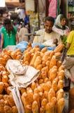 Morocco bread seller Stock Photos