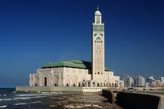 morocco casablanca hassan ii moské Royaltyfria Bilder