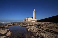 morocco casablanca hassan ii moské Arkivbild