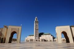 morocco casablanca hassan ii moské Royaltyfria Foton