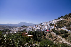 Morocco - Chechaouen. Medina in Morocco in Chechaouen. Only one Blue medina in the world Stock Image