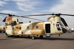 Morocco Chinook helicopter Royalty Free Stock Image