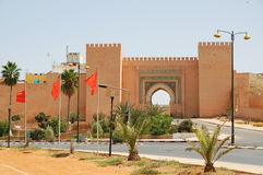 Morocco, a city gate in Meknes Stock Image