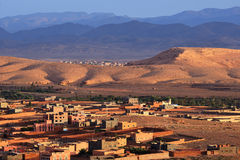 Morocco. City Tinghir in the Atlas Mountains. Morocco. City Tinghir on the background of Atlas Mountains royalty free stock image