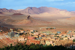 Morocco. City Tinghir in the Atlas Mountains Stock Photo