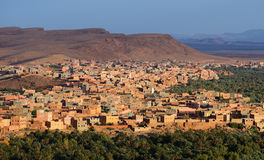 Morocco. City Tinghir in the Atlas Mountains Royalty Free Stock Photography