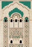 Morocco. Detail of Hassan II Mosque in Casablanca Stock Photography