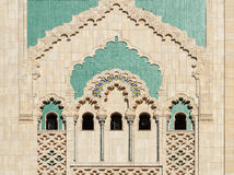 Morocco. Detail of Hassan II Mosque in Casablanca Royalty Free Stock Photography