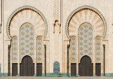 Morocco. Detail of Hassan II Mosque in Casablanca Royalty Free Stock Photo