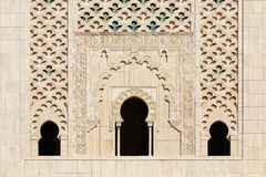 Morocco. Detail of Hassan II Mosque in Casablanca Stock Images