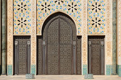 Morocco. Detail of Hassan II Mosque in Casablanca Stock Image
