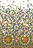 Morocco Disintegration Template. Based on Moorish Mosaic Royalty Free Stock Photos
