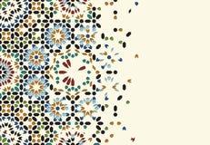 Morocco Disintegration Template. Islamic Mosaic Abstract Background Stock Photos