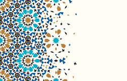 Morocco Disintegration Template. Islamic Mosaic Design. Abstract Background Stock Image