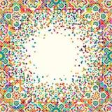 Morocco Disintegration Template. Islamic Mosaic Design. Abstract Background Stock Photos