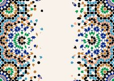 Morocco Disintegration Template. Islamic Mosaic Design. Abstract Background Royalty Free Stock Photo