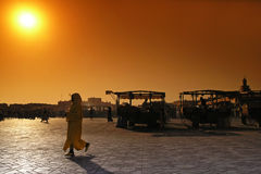 Morocco djema el fna place. In marrakesh Stock Photography